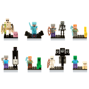 цена на My World The Diamond Steve Ghast Zombie Witch Compatible Building Blocks Figure Model Dolls Minecraftinglys Bricks Toys For Kids