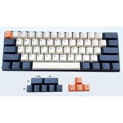Толстые карбоновые колпачки для клавиатуры PBT с красителем, профиль вишни, 61 63 64 84 87 96 108 для переключателей Cherry MX, механические клавиатуры