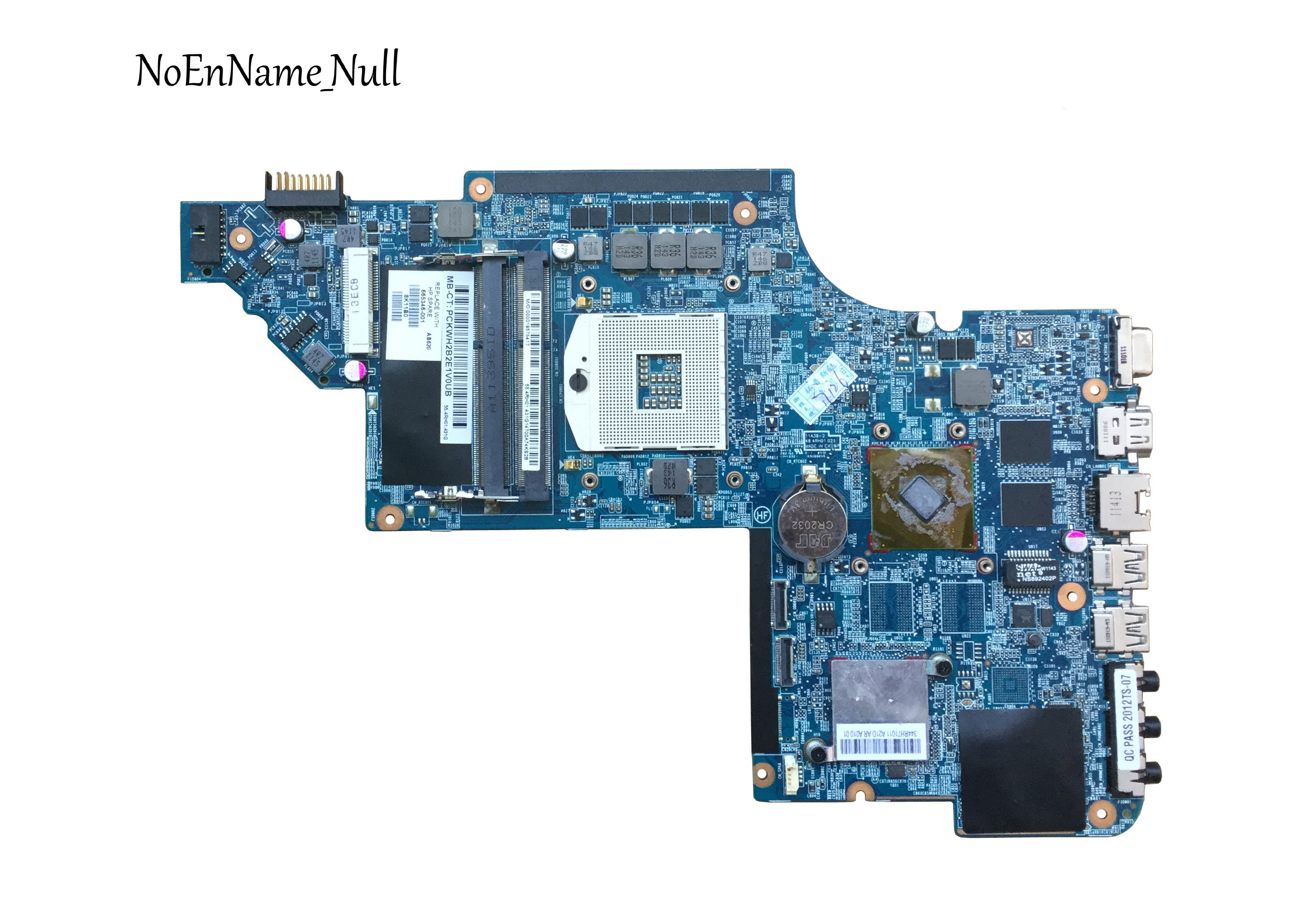 Laptop Motherboard For Hp Pavilion DV6-6000 665346-001 For With HM65 HD6750/1G Non-integrated Graphic Free Shipping