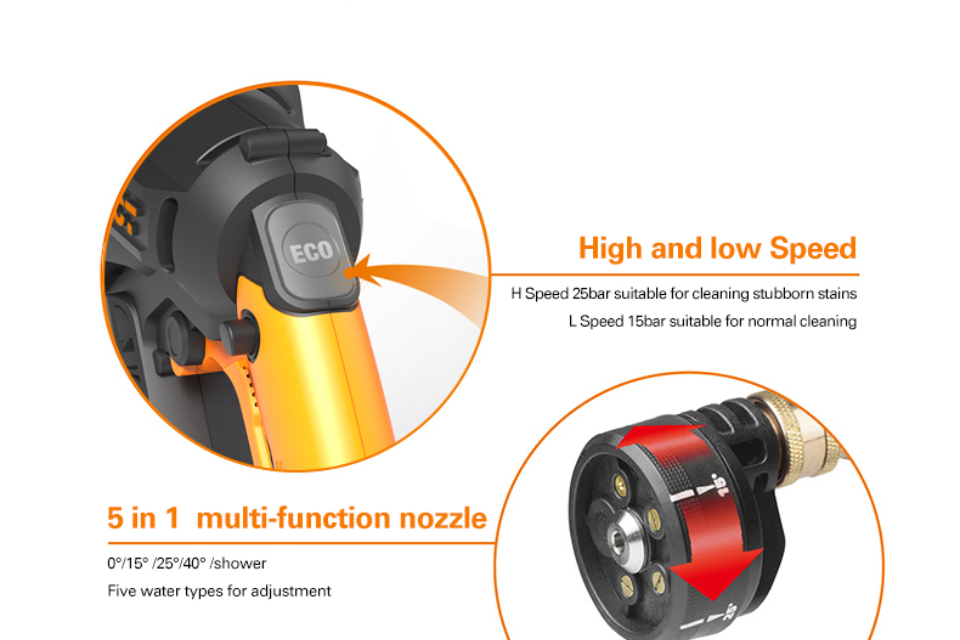 5 in 1 multifunction Nozzle