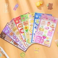 Mohamm 2PCS/1 Box Sticker Cartoon Cute Decoration Scrapbooking Stationery School Supplies