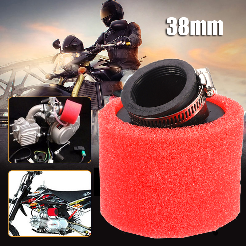 <font><b>38mm</b></font> Motorcycle Air <font><b>Filter</b></font> 45 Degree Angled Racing Motorcross Foam <font><b>Filter</b></font> For GY6 50cc ATV Scooter Bike Dirt Pit image