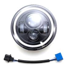 2020 nouveau 7 pouces LED phare H4 H13 ambre ange yeux pour JEEP CJ JK TJ Wrangler Harley