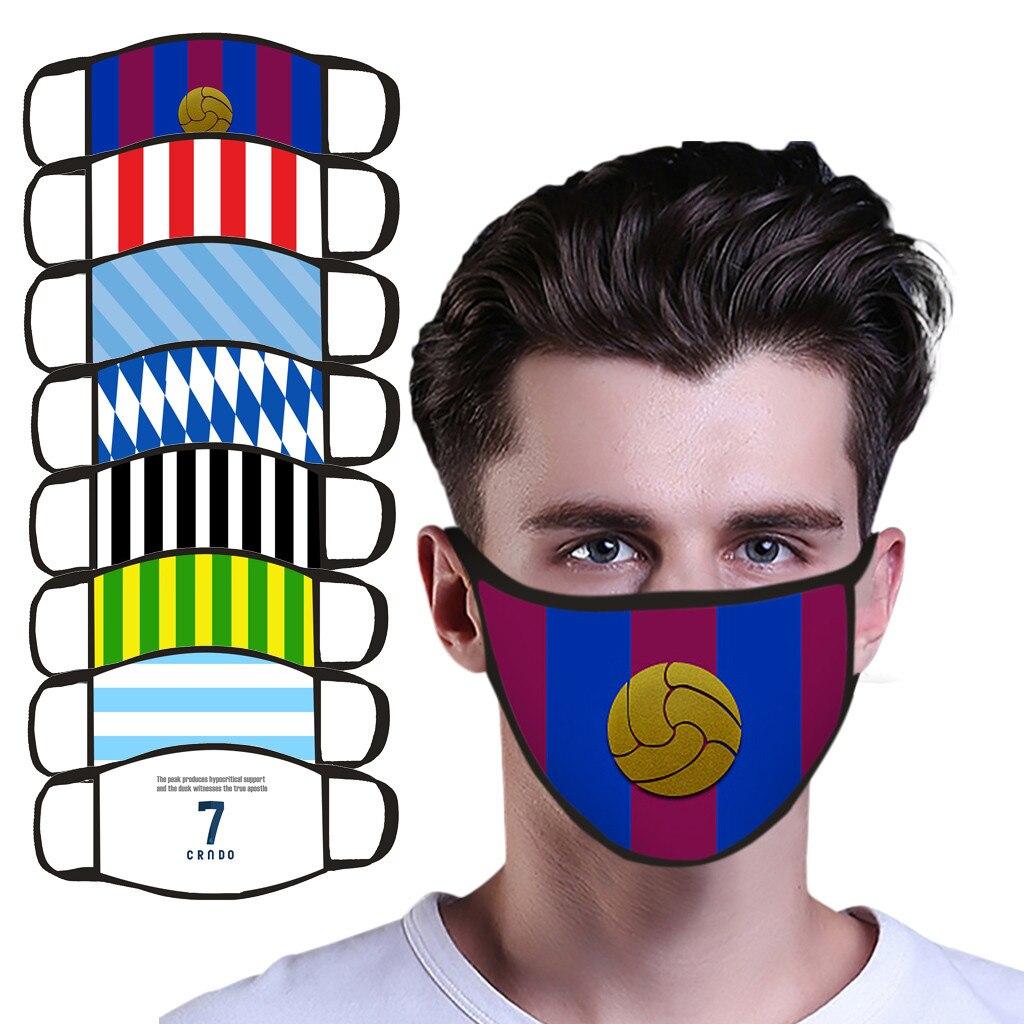 Mascarillas les Fans de Football doivent avoir des masques imprimés, qui peuvent être lavés et réutilisés motif de l'équipe de barcelone Máscara de abanico