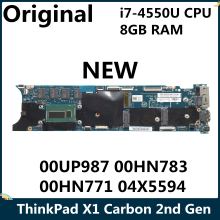 LSC NEUE Für Lenovo ThinkPad X1 Carbon 2nd Gen Laptop Motherboard 00UP987 00HN783 00HN771 04X5594 SR16J I7-4550U CPU 8GB RAM