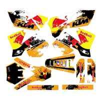 Für KTM SX 125 250 450 525 2003 2004 Neue Volle Grafiken Decals Aufkleber Custom Nummer Name 3M Matte wasserdicht