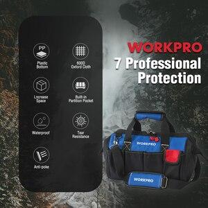 "Image 5 - WORKPRO 14"" Tool Bags Waterproof Base Tool Storage Bags Shoulder Bag Handbag Free Shipping"