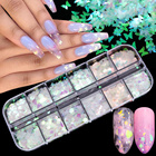 12 Grids Nail Sequin...