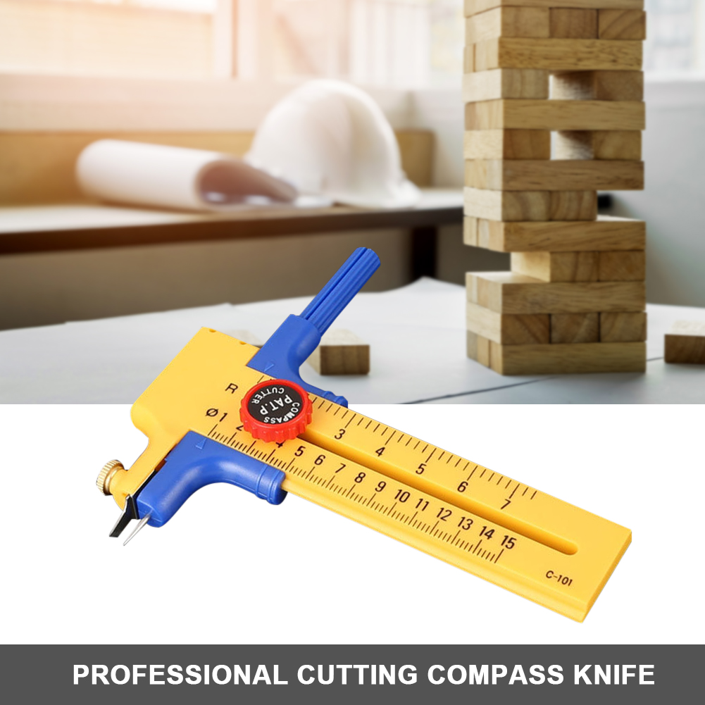 Sewing Accessories Circle Cutter Round Cutting Knife Patchwork Compass Scrapbooking Cards Cutters Paper-Cutting Tool