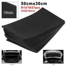 9/18pcs 3/5/8/10mm 30x50cm Car Sound Hot Deadener Insulation Mat Foam Cotton Blend Engine Firewall Heat Deadening Cotton Sticker