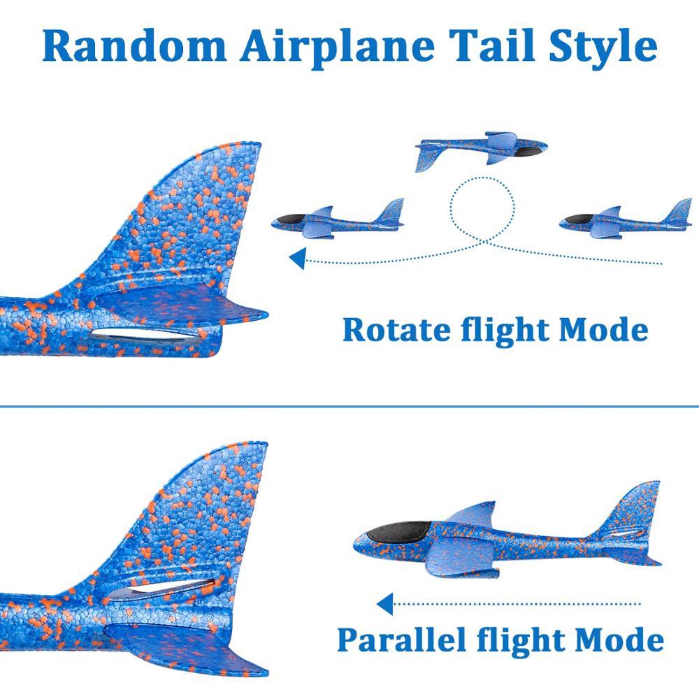 Jouet d'avion en mousse pour enfants, modèle d'avion à inertie, Mode de vol 36/48cm, pour sports de plein air 6