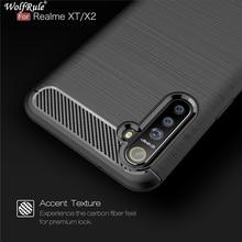 Case For Oppo Realme X2 Case Shockproof Bumper Carbon Fiber Cover For