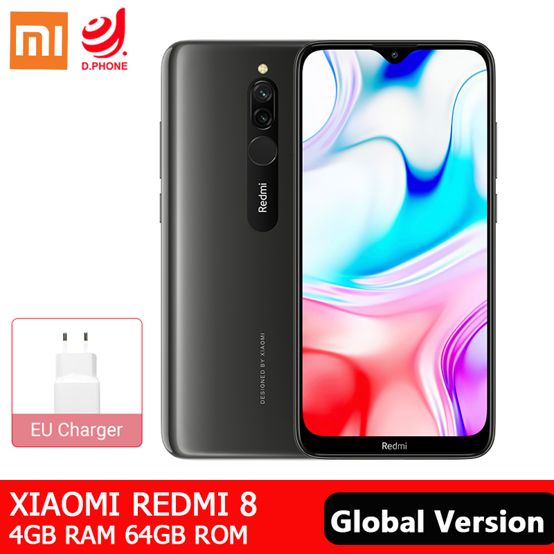 Xiaomi Redmi 8 4GB 64GB Global Version Smartphone Snapdragon 439 Octa Core 5000mAh 18W Fast Charge 12MP Dual Camera Mobile Phone