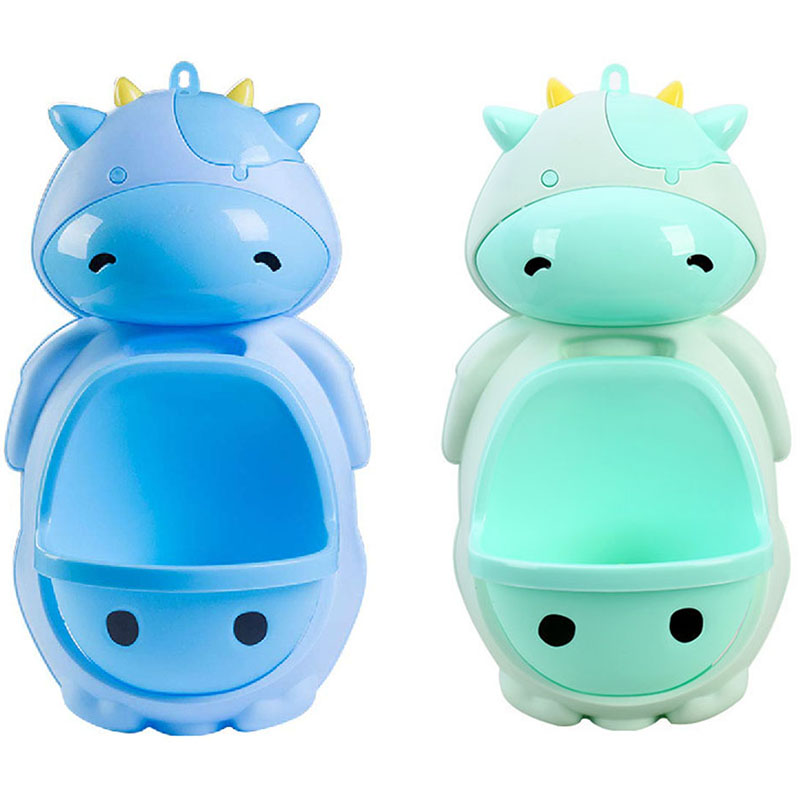 Infant Potty Toilet Lovely Cow Baby Boy Convenient Training Stand Vertical Pee Urinal Kid Wall-Mounted Hook Boy Urinal