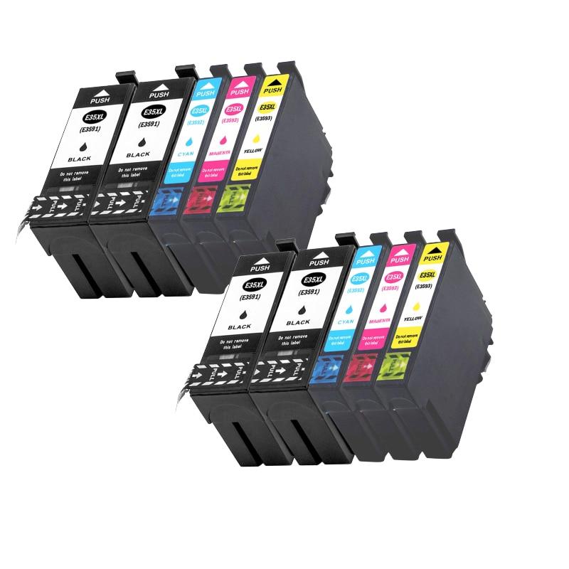 E3591-4-10PK совместимые чернильные картриджи для Epson WF-4720DWF, WF-4725DWF, WF-4730DTWF, WF-4730DWF, WF-4740DTWF, WF-4740DWF