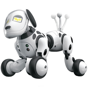 Robô inteligente cão 2.4g controle remoto sem fio crianças brinquedo inteligente falando robô cão brinquedo eletrônico presente de aniversário do animal estimação