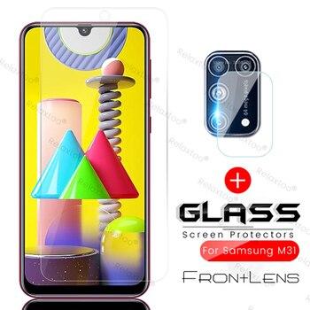 Перейти на Алиэкспресс и купить 2в1 стекло для камеры samsung galaxy m31 m 31 s 31 s 2020 sm-m315f/ds 6,4 ''sm-m317f/ds 6,5'' защитная пленка