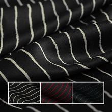 140CM Wide 120G/M Stripe Print Ramie Summer Spring Pants Dress Shirt Blouse Jacket Fabric E1291(China)