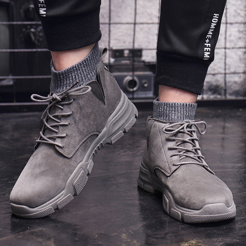 New Autumn Early Winter Boots Men Winter Shoes Thick Sole Fashion Men Ankle Boots Comfortable Brand Winter Male Footwear A1793