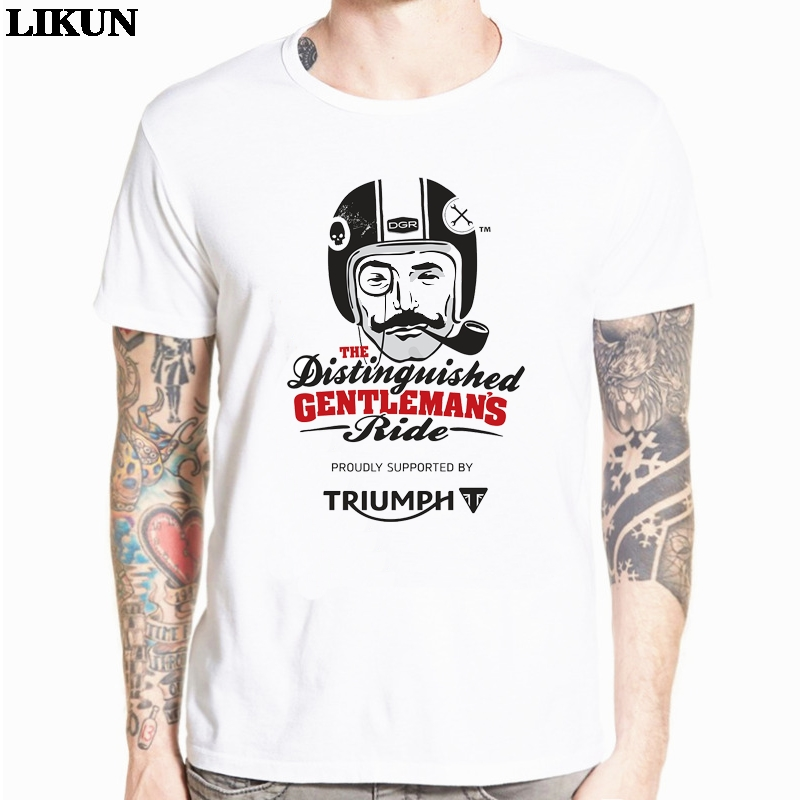 2019 Hot Wholesale Triumph Distinguished Gentlemen In Action T-shirt Tops Modal Men T Shirts New Design High Quality Tshirt
