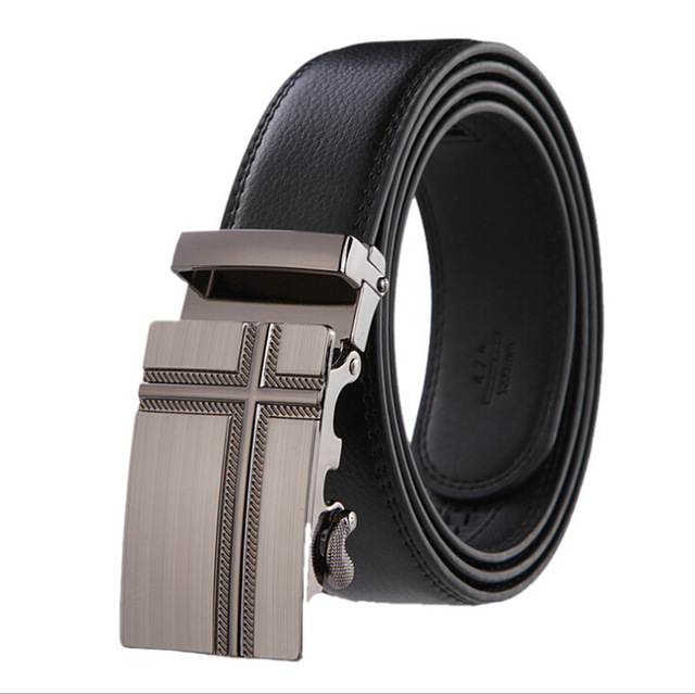 PU Leather Mens Belts Automatic Buckle Fashion Belts For Men Business Popular Male Brand Black Belts Luxury