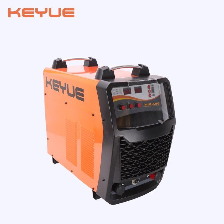 KEYUE MIG-500D MIG IGBT schweißer DC drei phase 380V 500A schweißen maschine 15KGS feeder inverter Digital control MMA TIG 3 in 1