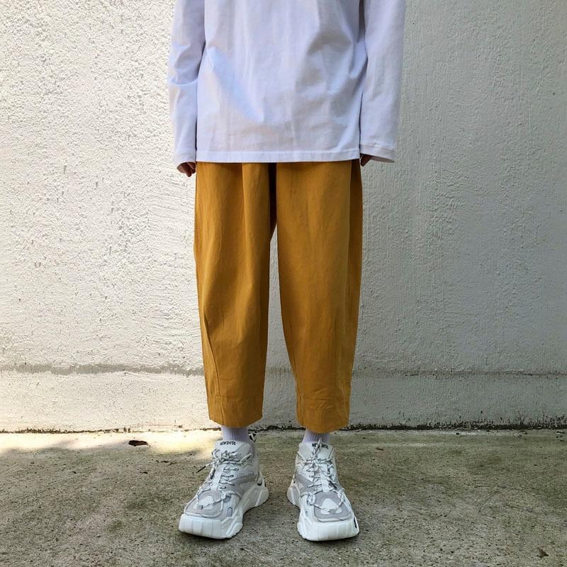 Autumn Pants Men Fashion Solid Color Casual Stretch Waist Straight Trousers Man Streetwear Hip Hop Loose Joggers Sweatpants Men