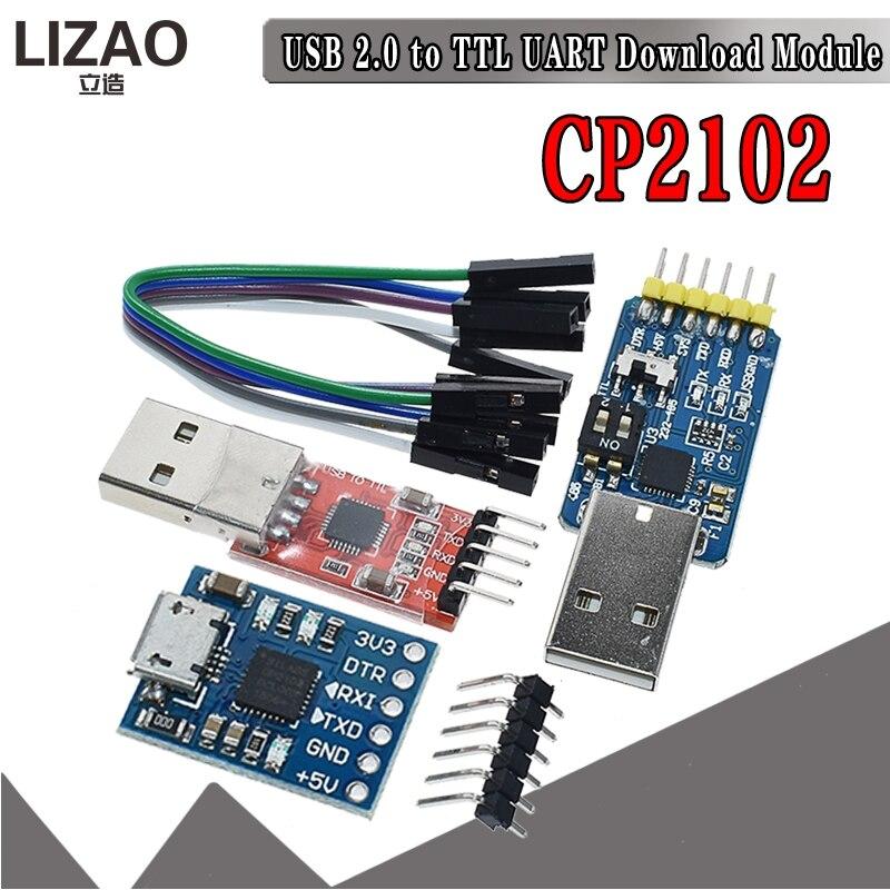 CP2102 USB 2,0 к UART TTL 5PIN Соединительный модуль, последовательный преобразователь STC, замена FT232 CH340 PL2303