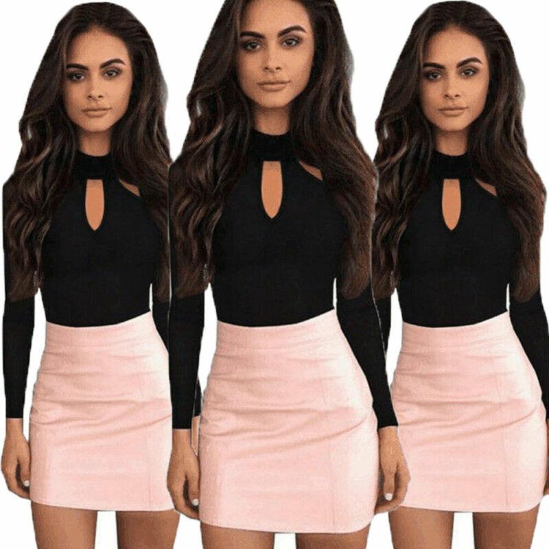 Fashion Women Long Sleeve Bandage Bodysuit Elegant Casual Plain Leotard Ladies Female Streetwear Party Club Body Top Romper