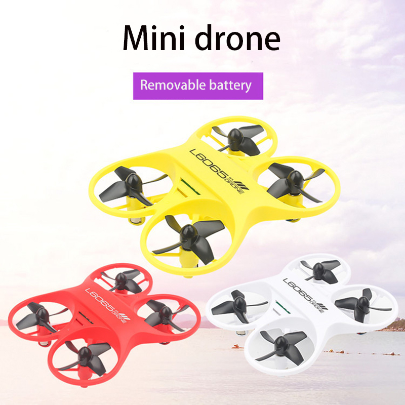 Remote control mini four channel drone RC airplane fall defense collision children's toys|RC Helicopters| |  - title=