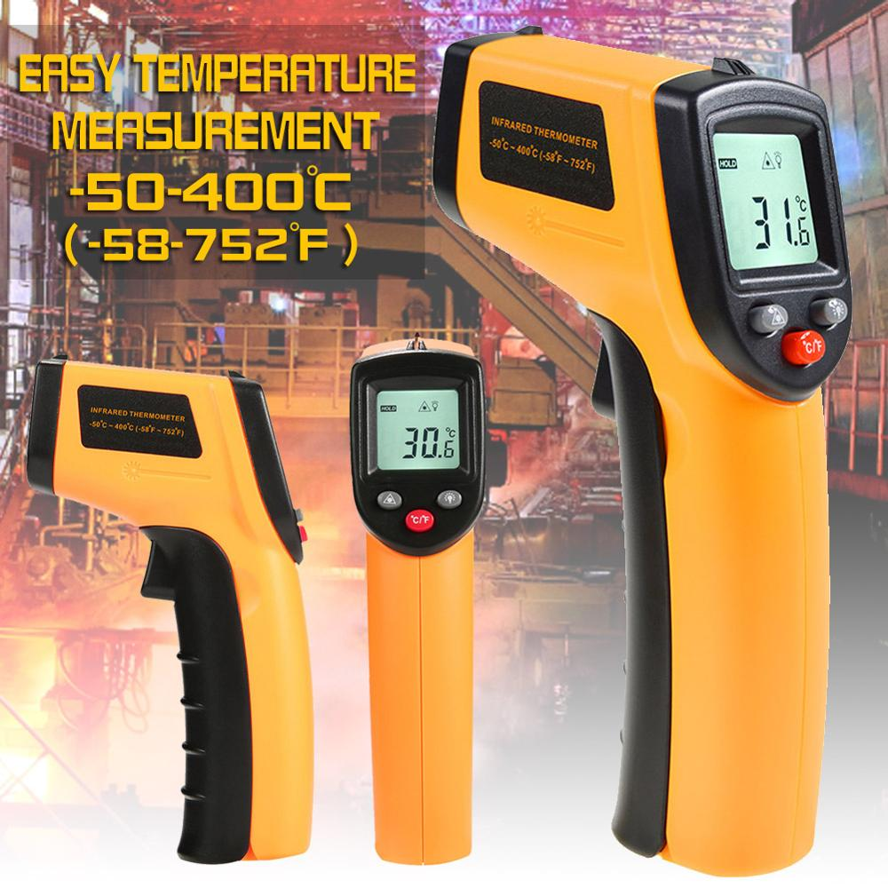 IR Infrared Thermometer Non-Contact Temperature Meter Gun Handheld Digital LCD Industrial Outdoor Laser Pyrometer IR Thermometer