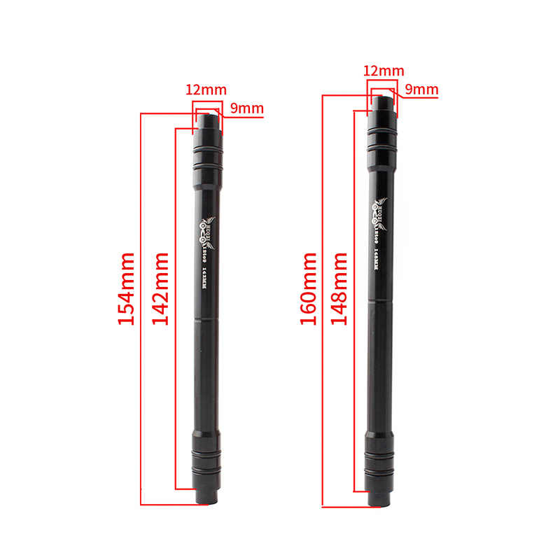 Aluminum Alloy Cycling Tube Shaft 12MM To 9MM Aluminum Quick Release Adapter