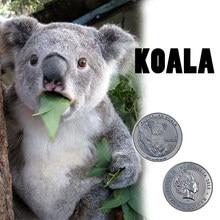 RH Серебряная монета с серебряным покрытием, домашняя декоративная 999,9 Серебряная коала, памятные монеты Elizabeth II, коллекционные для креативн...