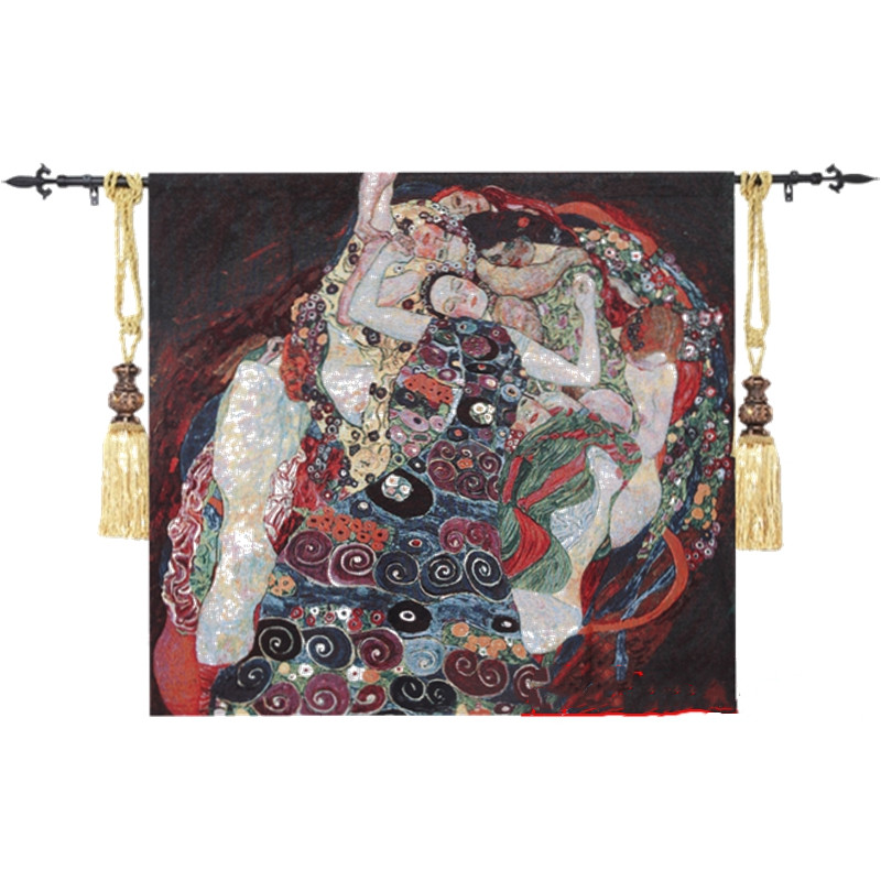 Klimt Adele berühmte malerei reines Exquisite home textile dekorative produkt Kunst wandbehang tapisserie PT 25