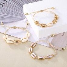 IPARAM, богемский винтажный браслет-цепочка в виде ракушки, женский пляжный Морской браслет в виде ракушки, ножной браслет, ювелирные изделия, вечерние, подарок
