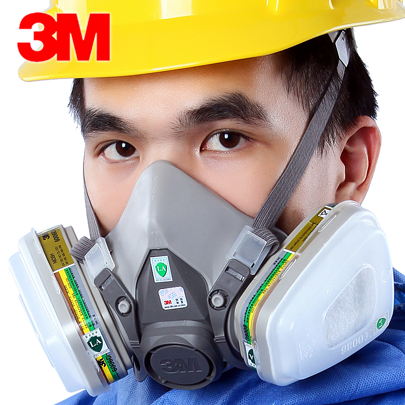 <font><b>3m</b></font> 6200 + <font><b>6006</b></font> filter Anti-Spray Paint Formaldehyde Acid Industrial Gas Multi-Function Face ShieldSet 7 in 1 gas Mask image