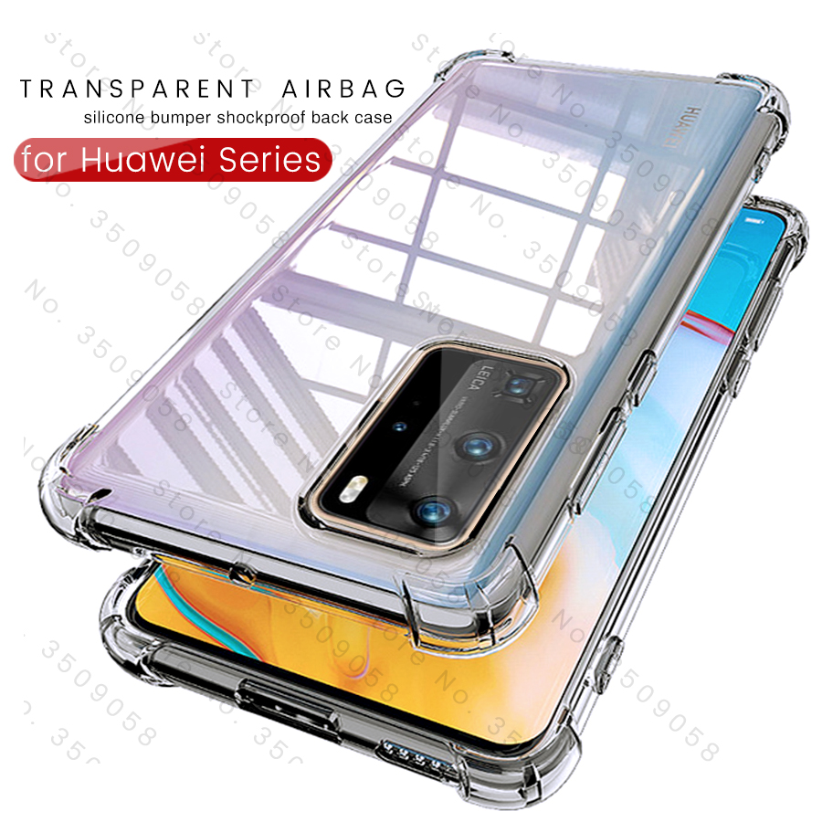 transparent airbag case for huawei y9s p smart z 2019 p30 p20 p40 pro lite honor 20 s 10 light 10i 8x 9x shockproof shell coque