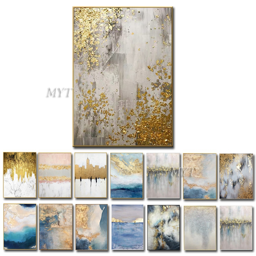 100% Handpainted Abstract Oil Paintings On Canvas Modern Wedding Decor Wall Landscape Pictures Home Decoration No Framed