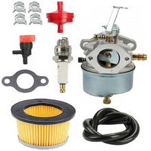 Kit carburateur pour TECUMSEH Troy Bilt H50 H60 HH60 632230 632272 5 & 6 HP moteurs tondeuse carburateur Kits de réparation joint filtre à carburant(China)
