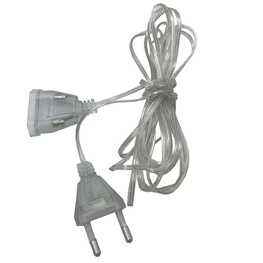 Thrisdar 5M EU Plug Extender Wire Extension Cable For Christmas Wedding Fairy String Light Indoor Outdoor Garden Garland
