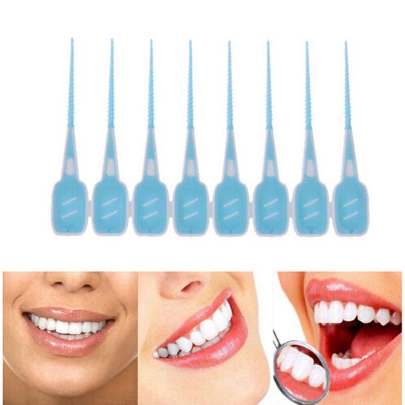20 шт./компл. взрослых Ragers чистить между зубов нить щетки Зубная щетка зубочистки стоматологический инструмент для ухода за полостью рта