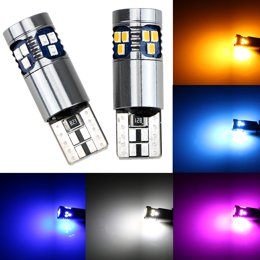 <font><b>T10</b></font> W5W 3030 <font><b>18</b></font> <font><b>SMD</b></font> Interior Indicator light Car Reading Light Signal Lamp Marker Lamp Super Bright image