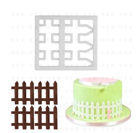 1 pieza valla azúcar pastel de impresión molde de galletas para hornear molde utensilios de cocina accesorios niños deliciosa comida DIY