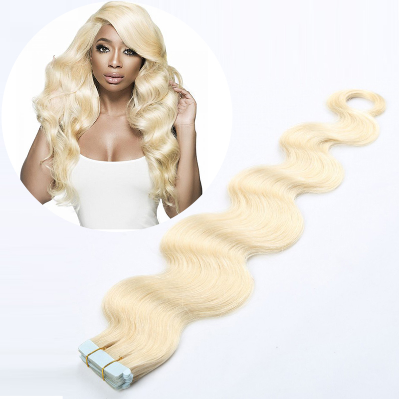 Toysww Tape In Human Hair Extensions Skin Weft Blonde Natural Hair Virgin Straight Tape In Hair Invisible On Adhesives 20pc 40pc