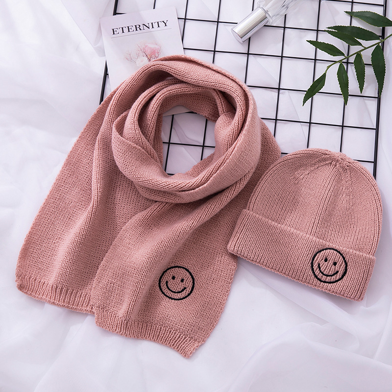 14 Colors Boys Girls Scarf And Hat Sets Knitted Winter Warm Kids Cute Scarves Hats Korean Fashion Children Winter Hat Scarf Set
