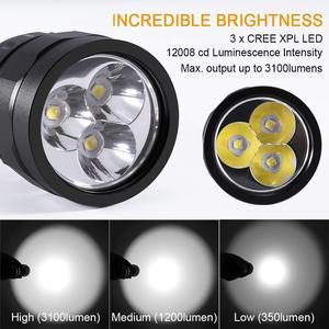 Image 2 - DF30 スキューバダイビングライト 18650 led 懐中電灯強力な 3100lm トリプル cree xpl led ランプ水中サーチライトトーチ