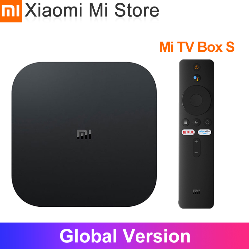 Оригинальная глобальная версия Xiaomi mi Box S Android 8,1 4 K четырехъядерный Smart tv Box 2 ГБ 8 ГБ HD mi 2,4G 5,8G WiFi Mali 450 1000Mbp
