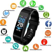 цена на Bluetooth Smart Bracelet Blood Pressure Heart Rate Monitor Waterproof Sport Smart Wristband Fitness Tracker Health Activity Band