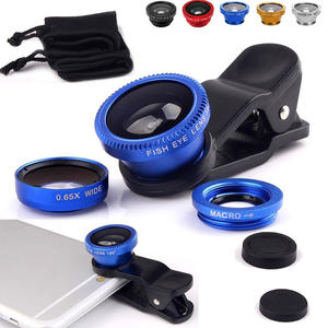 Camera-Lens-Kits Fish-Eye-Lens Macro Clip Obiektyw Wide-Angle Telefonu with for Rybie