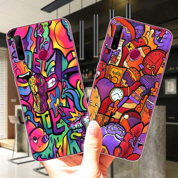 SUPREME Copic Marker Doodle Soft Silicone Case Cover For Huawei Honor 30 Lite 10 20 Lite Pro 10i 9X 8X 8C Mate 20 30 Lite Pro image